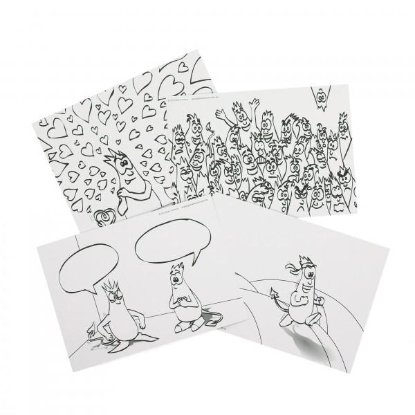 Ausmal-Postkarten